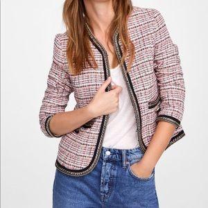 Zara tweed blazer with chains